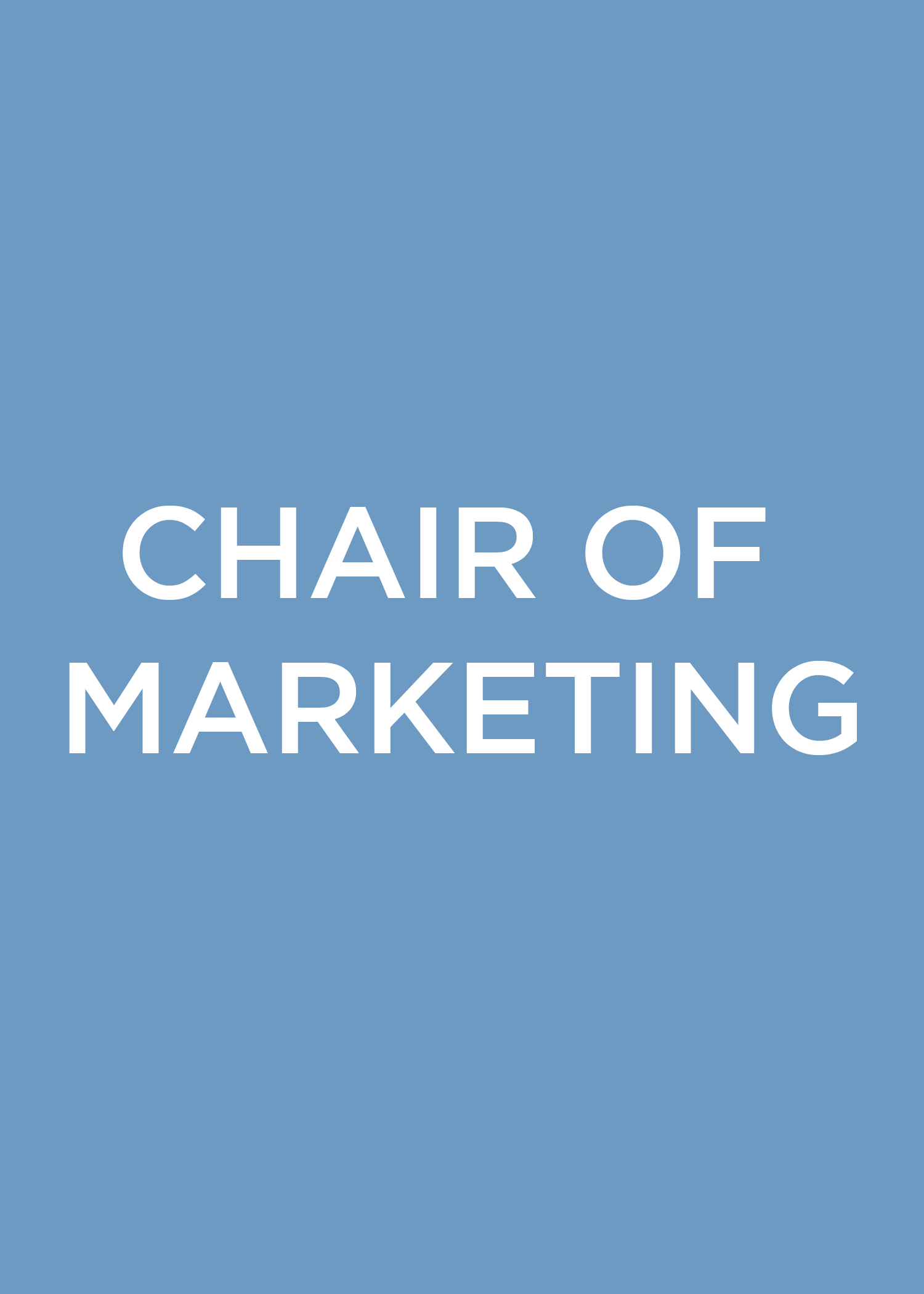 Chair of Marketing