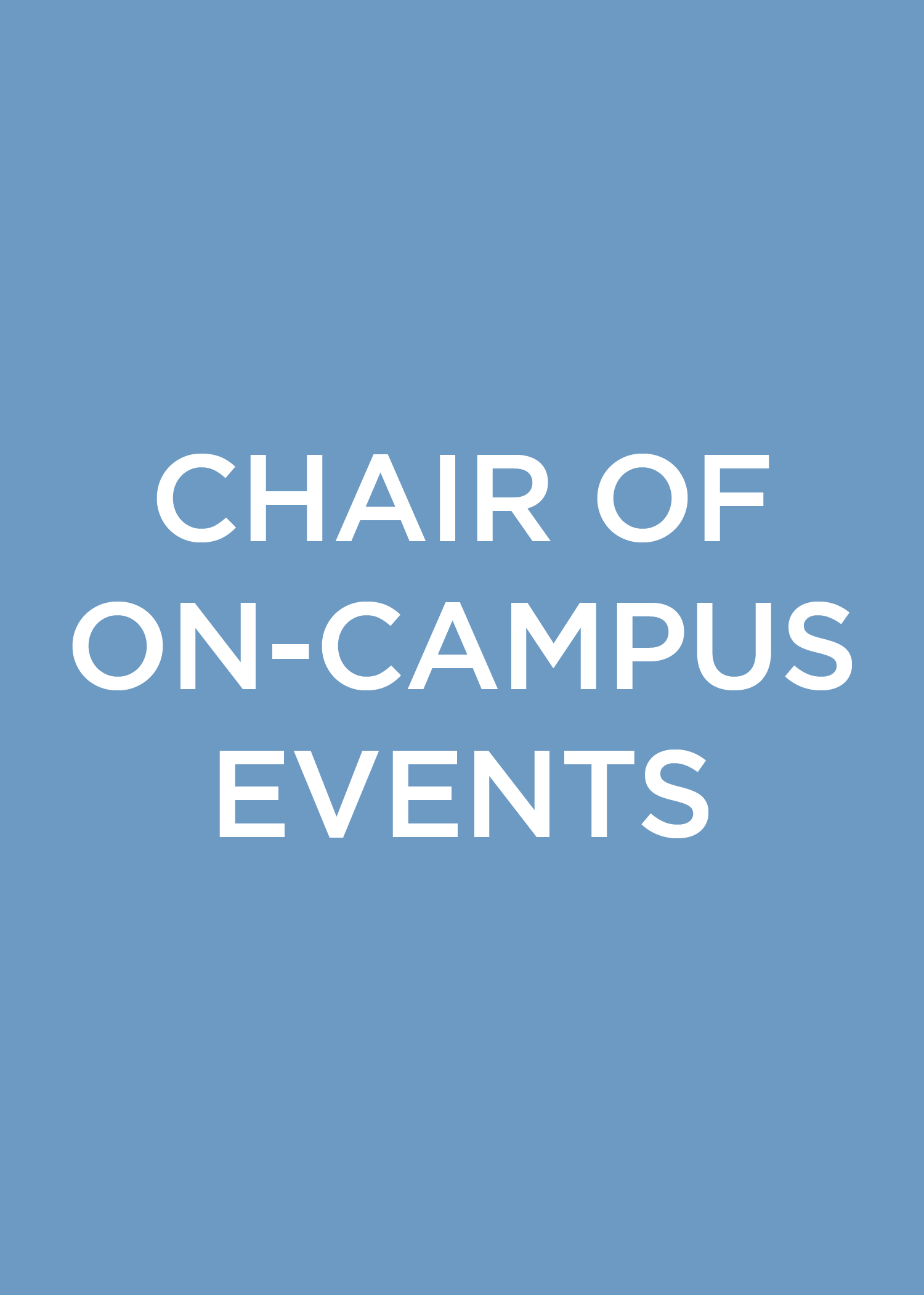 Chair of On-Campus Events