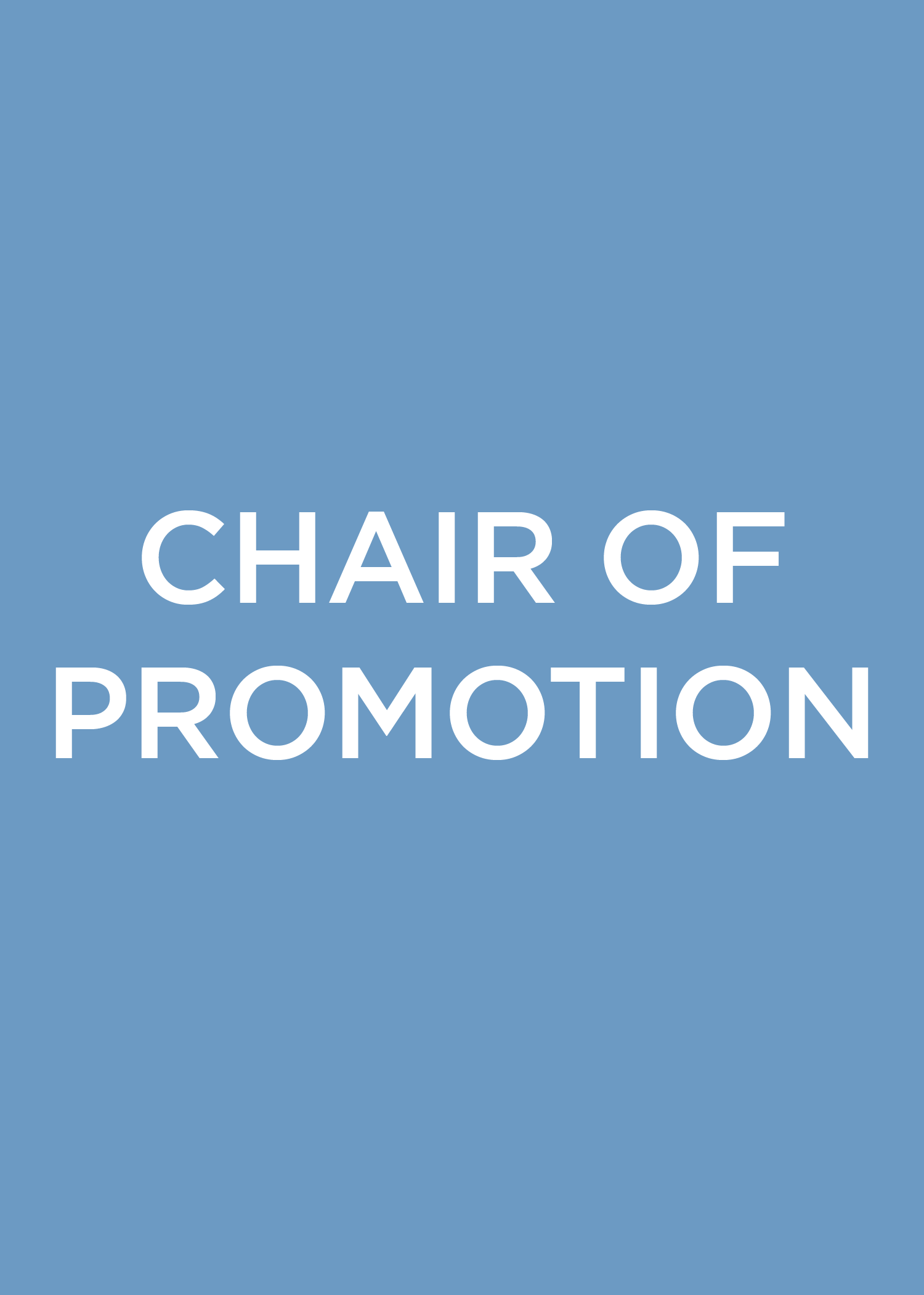 Chair of Promotion
